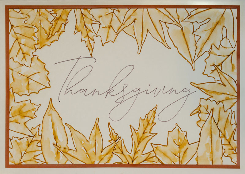 Thanksgiving Leaves Card